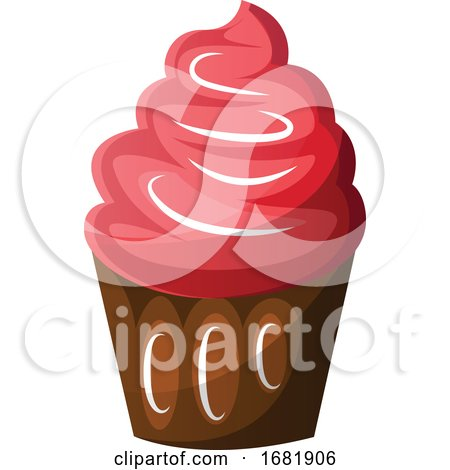 Chocolate Cupcake with Red Icing Posters, Art Prints