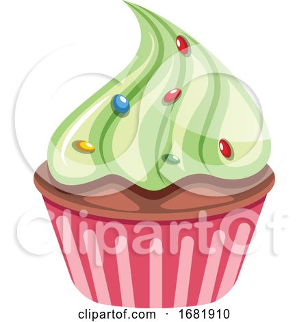 Chocolate Cupcake with Green Topping by Morphart Creations