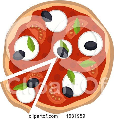 Mozzarella Pizza by Morphart Creations