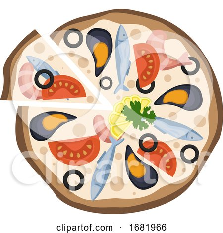 Seafood Pizza  by Morphart Creations