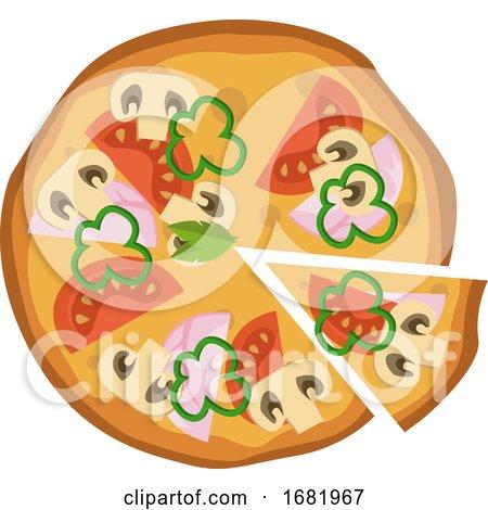 Hammushroom and Tomato Pizza by Morphart Creations