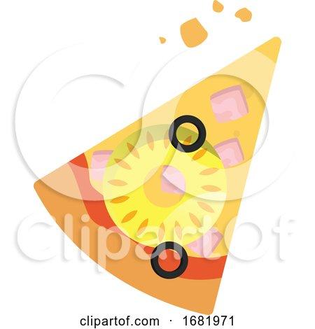 Slice of Hawaiian Pizza by Morphart Creations