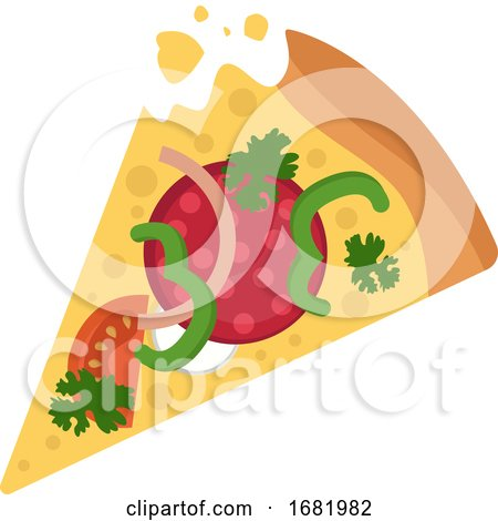 Salami Pizza with Veggies by Morphart Creations