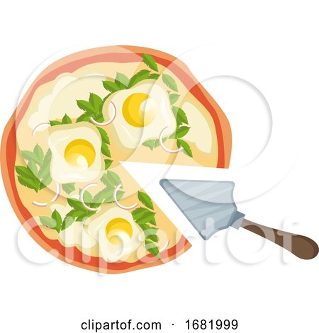Pizza with Eggs  by Morphart Creations