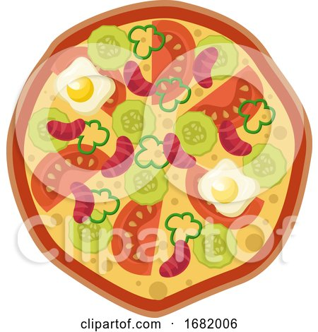 Pizza with Veggies and Eggs by Morphart Creations