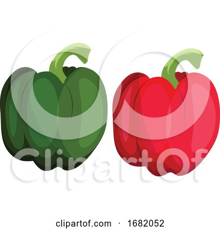 Green and Red Bellpepper by Morphart Creations
