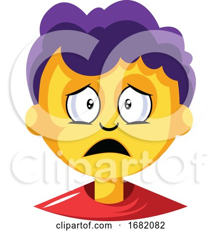 Young Boy with Purple Hair Is Depressed by Morphart Creations