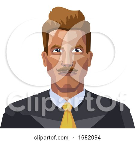 Guy in a Suite Wiyh Mustaches by Morphart Creations