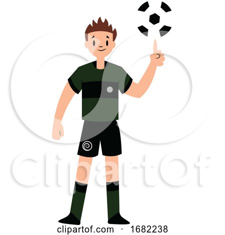 Football Player Spining Ball on a Finger by Morphart Creations
