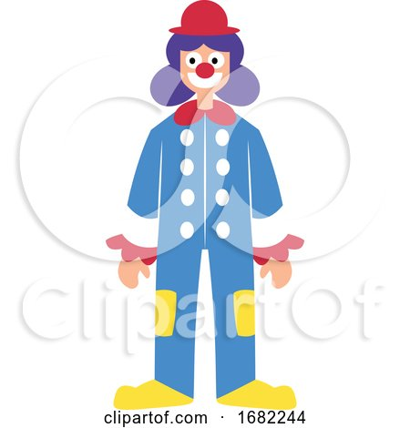 Clown Character in Colorful Suit by Morphart Creations