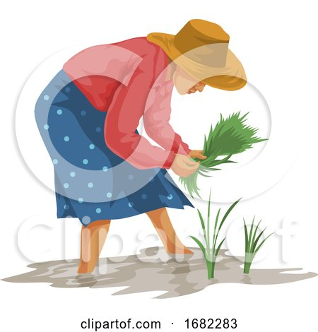 Woman Working in Farm by Morphart Creations