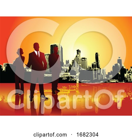 Corporate or Business Team with Urban Background by Morphart Creations