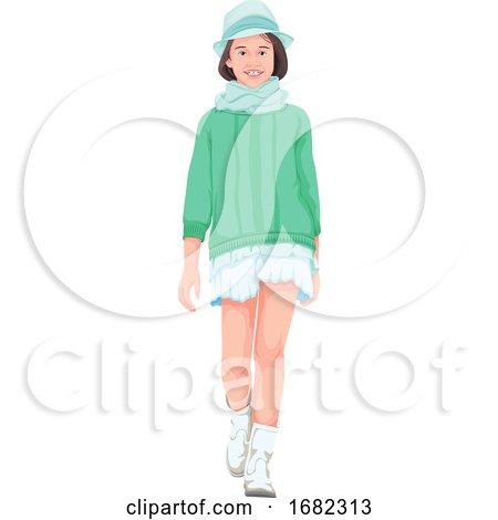 Beautiful Girl Walking by Morphart Creations