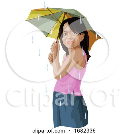 Girl with Umbrella by Morphart Creations
