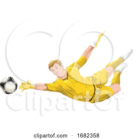 Goalkeeper in Action by Morphart Creations