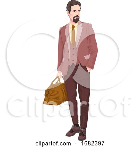 Businessman with Luggage by Morphart Creations