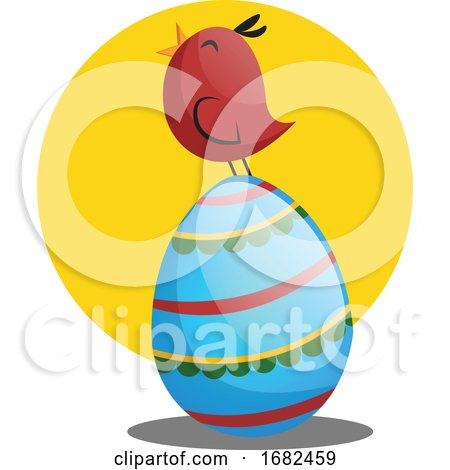 Easter Egg and Little Chicken Illustration Web Posters, Art Prints