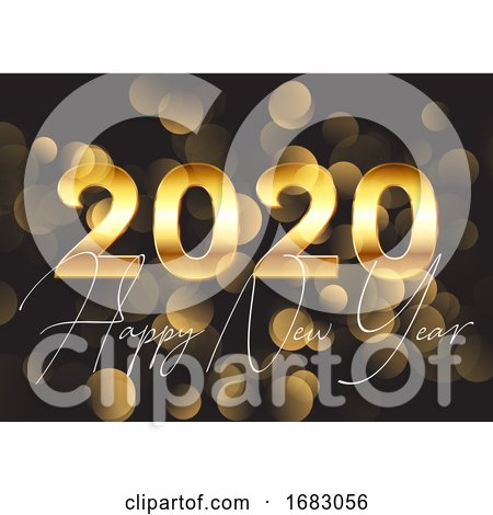 Gold Happy New Year Background by KJ Pargeter