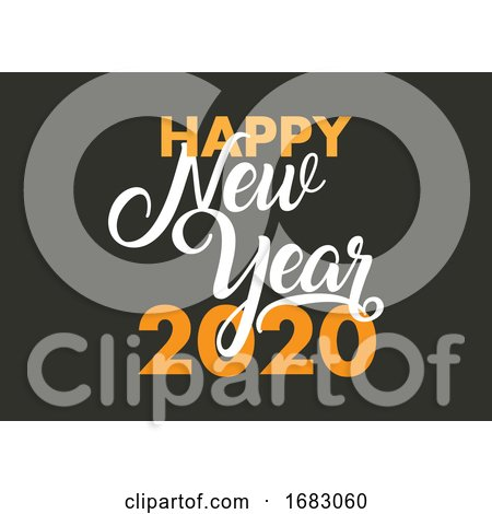 Happy New Year Decorative Text Background by KJ Pargeter