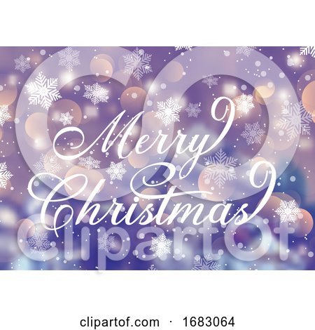 Decorative Christmas Text on Snowflake Background by KJ Pargeter