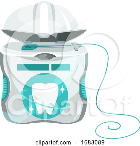 Dental Floss by Vector Tradition SM