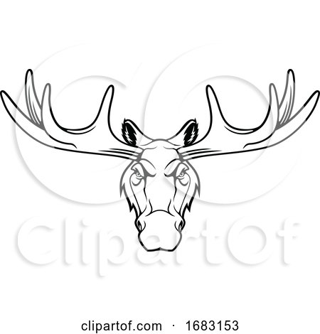 Tough Elk Mascot by Vector Tradition SM