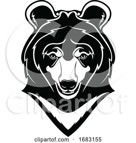Himalayan Bear Mascot by Vector Tradition SM
