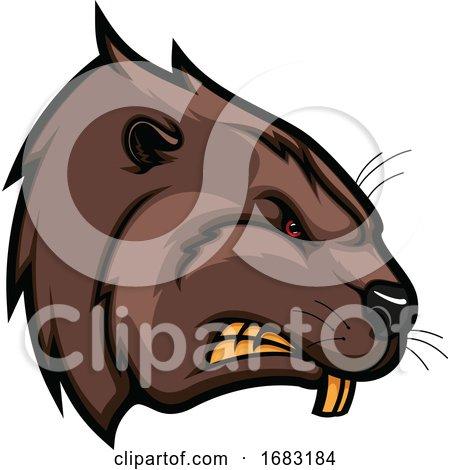 Tough Beaver Mascot by Vector Tradition SM