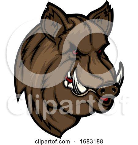 Tough Boar Mascot Posters, Art Prints