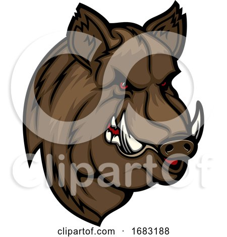 Tough Boar Mascot by Vector Tradition SM