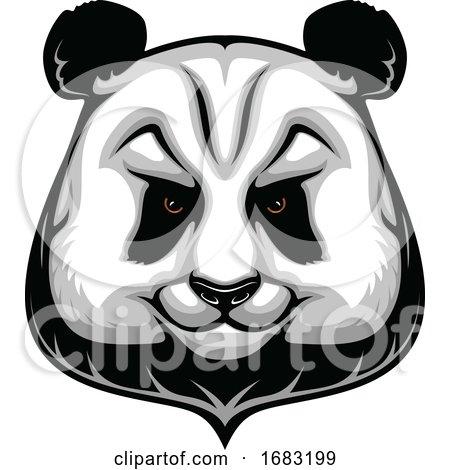 Tough Panda Mascot by Vector Tradition SM