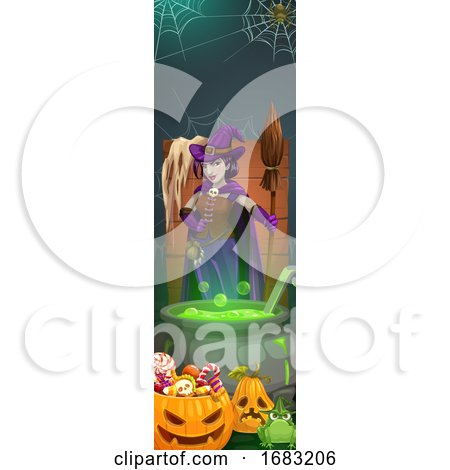 Halloween Border by Vector Tradition SM