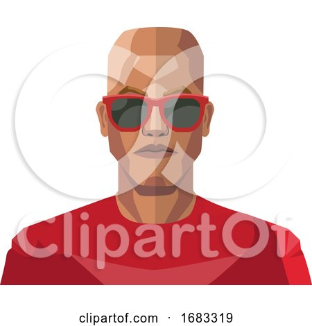 Bald Guy Wearing Sunglasses Illustration by Morphart Creations