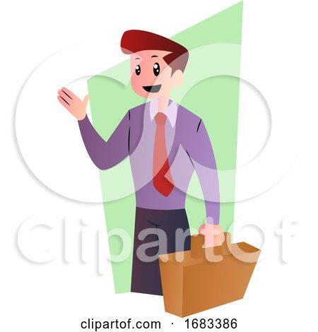 Cartoon Happy Businessman by Morphart Creations