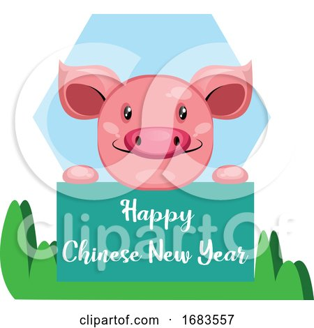 Pig Wishes You Happy Chinese New Year by Morphart Creations