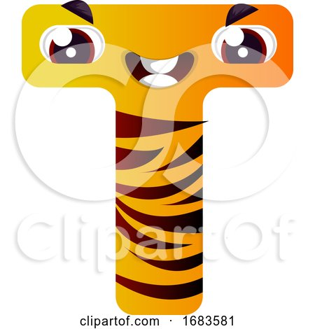 Orange Letter T by Morphart Creations