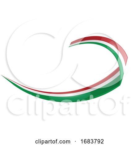 Italian and Mexican Shape Wave Flag by Domenico Condello