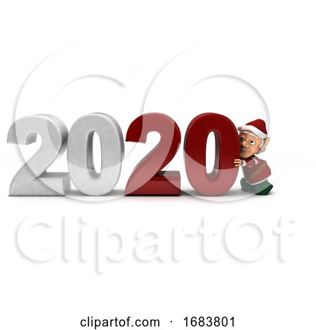 Elf Bringing in the New Year by KJ Pargeter