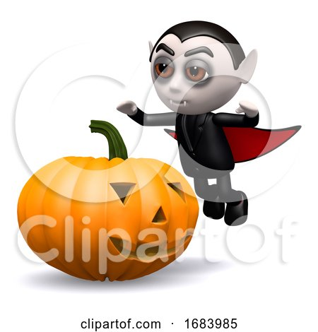 3d Dracula Pumpkin by Steve Young