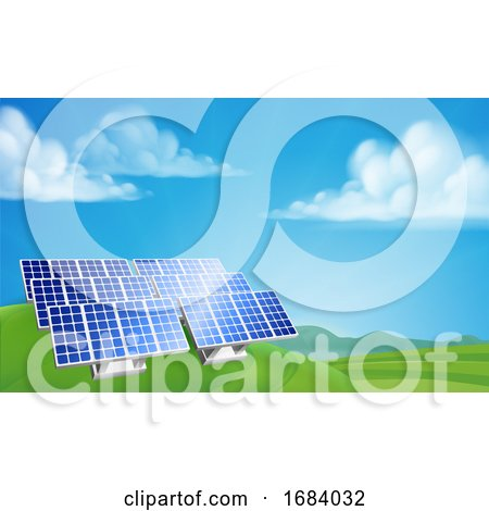 Solar Power Energy Renewable Farm by AtStockIllustration