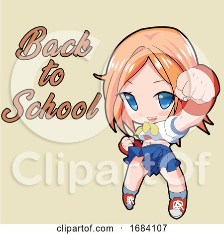 Manga Girl Ready to Go Back to School by mayawizard101