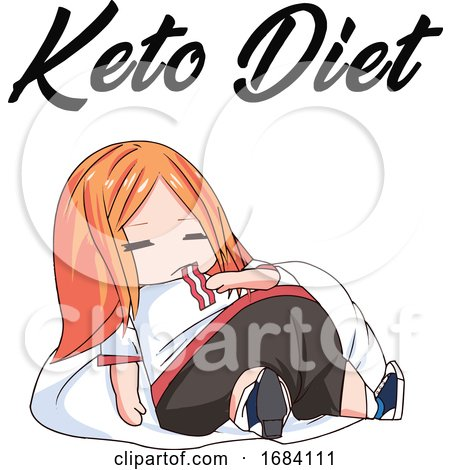 Manga Girl on the Keto Diet by mayawizard101