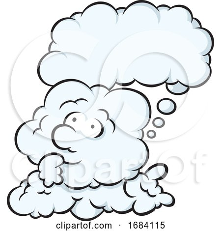 Cartoon Day Dreaming Cloud by Any Vector