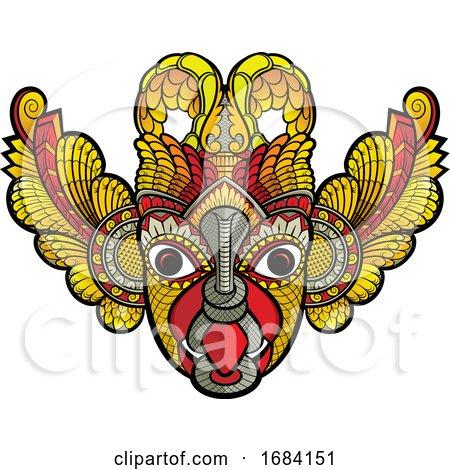 Traditional Sri Lanka Devil Mask by Lal Perera