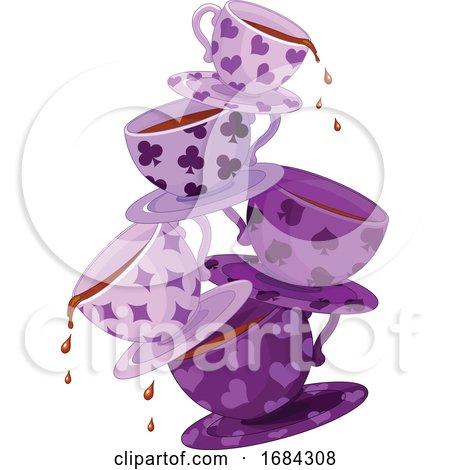 Purple Wonderland Tea Cups by Pushkin