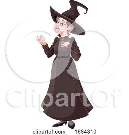 Polite Witch Gesturing by Pushkin