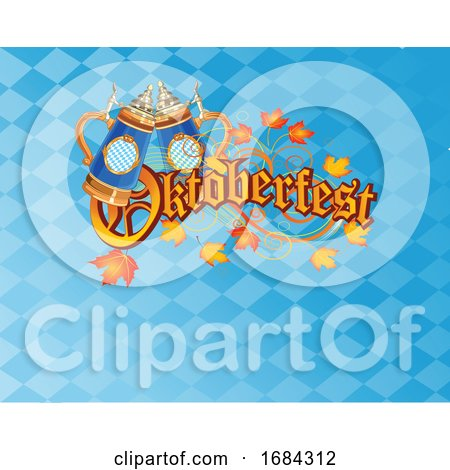 Oktoberfest Beer Stein Background by Pushkin