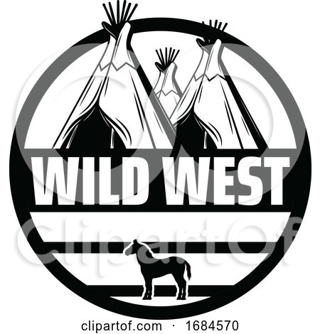 Black and White Western Design by Vector Tradition SM