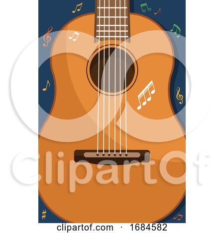 Guitar and Music Notes by Vector Tradition SM