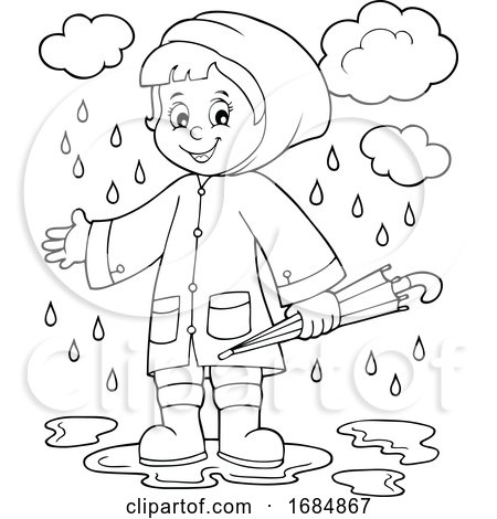 Girl in a Rain Coat by visekart